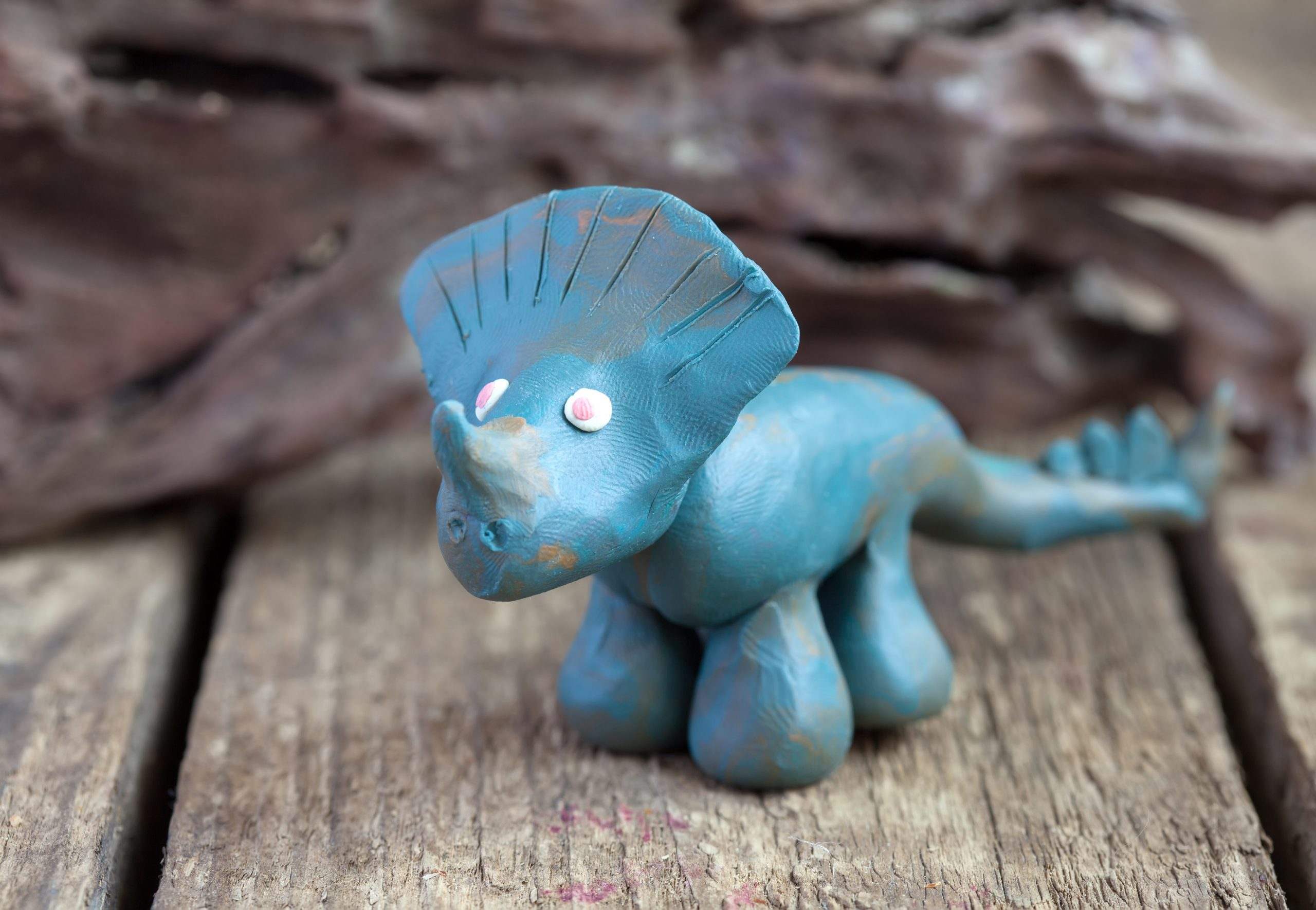 clay dino sculpture