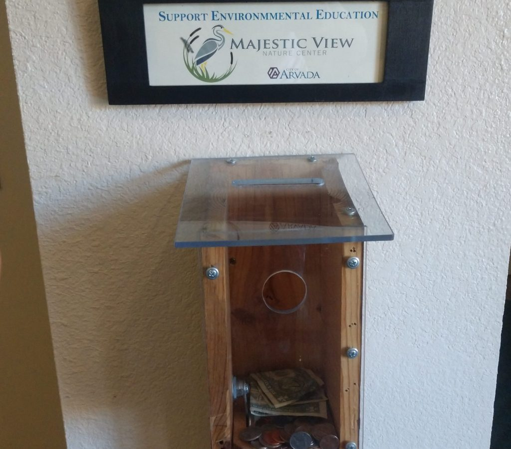 donation box at the nature center